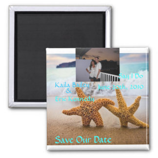 Starfish Beach Save the Date Photo Magnet