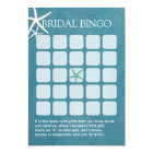 Starfish Beach Wedding Bridal Shower Bingo Cards