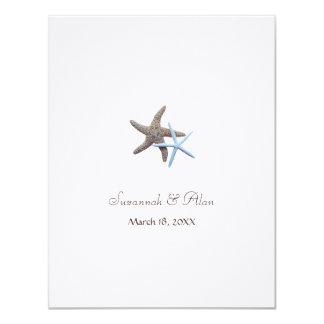 Starfish Beach Wedding Small Invitations 11 Cm X 14 Cm Invitation Card