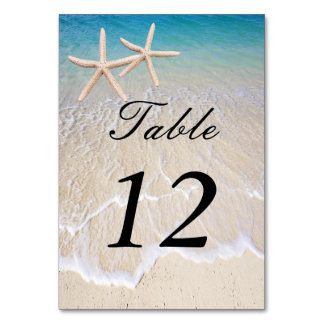 Starfish Beach Wedding Table Place Card