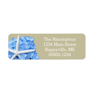 Starfish Blue Hydrangea Return Address Return Address Label