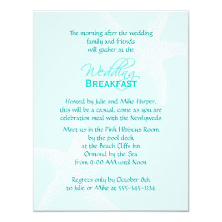 starfish_blue_wedding_breakfast_card r613786a95158496e8c9df9c555f7a649_zk91q_324?rlvnet=1 wedding breakfast invitations & announcements zazzle com au,Wedding Breakfast Invitations