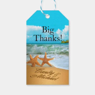 Starfish Couple ASK TO HAVE YOUR NAMES PUT IN SAND Gift Tags