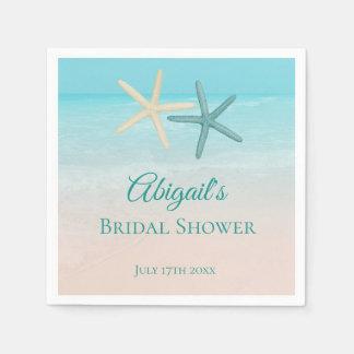 Starfish Couple Beach Wedding Personalised Disposable Serviette