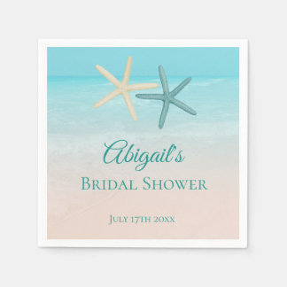 Starfish Couple Beach Wedding Personalized Disposable Serviette