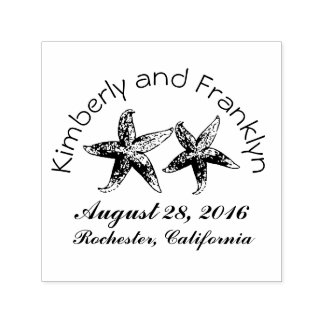 Starfish Couple Beach Wedding Self-inking Stamp