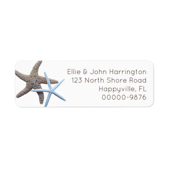 Starfish Couple Custom Return Address Return Address Label