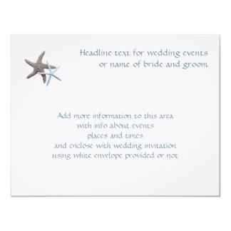 Starfish Couple Enclosure Event Cards 11 Cm X 14 Cm Invitation Card