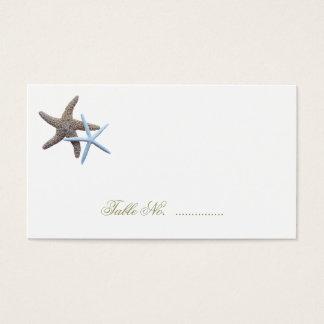 Starfish Couple Escort Seating Cards