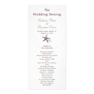 Starfish Couple Flat Double Sided Wedding Program 10 Cm X 23 Cm Rack Card