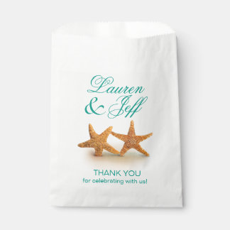 Starfish Couple on the Beach Wedding Favour Bag
