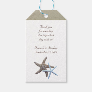 Starfish Couple Thank You Wedding Favor Gift Tags