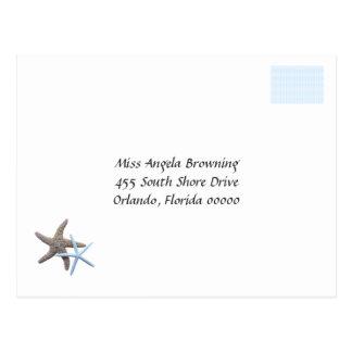 Starfish Couple Wedding Response Cards