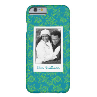 Starfish Crowd Pattern   Your Photo & Name Barely There iPhone 6 Case