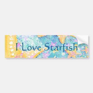 Starfish Design Bumper Sticker