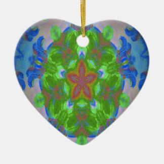 Starfish design ceramic heart decoration