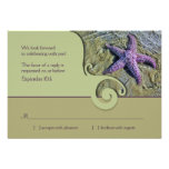 Starfish Destination Wedding RSVP Reply Card Personalised Invites
