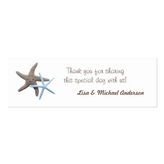 Starfish Favor Tag Thank You Cards Pack Of Skinny Business Cards