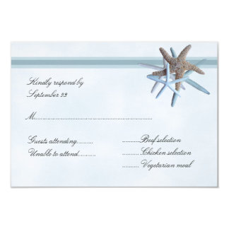Starfish Gathering A1 Size RSVP Menu Cards