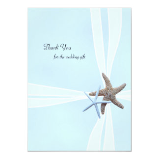 Starfish Gift Box Flat Wedding Thank You Notes 11 Cm X 16 Cm Invitation Card
