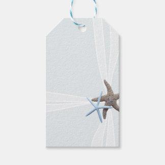 Starfish Gift Box Ribbon Design Gift Tags