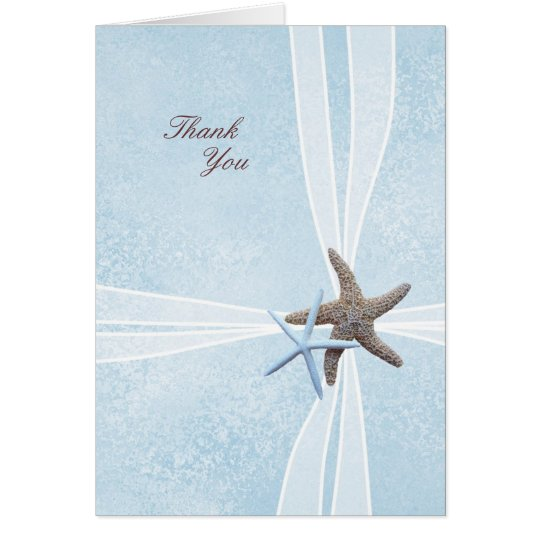 Starfish Gift Box Wedding Thank You Cards
