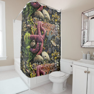 Starfish Gives High Fives Shower Curtain