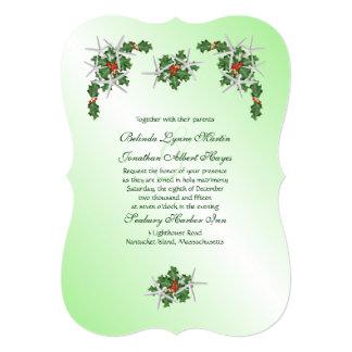 Starfish & Holly Tropical Christmas Wedding Invite