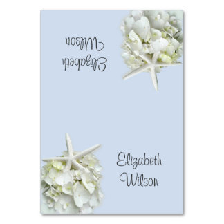 Starfish Hydrangea Tented Place Cards