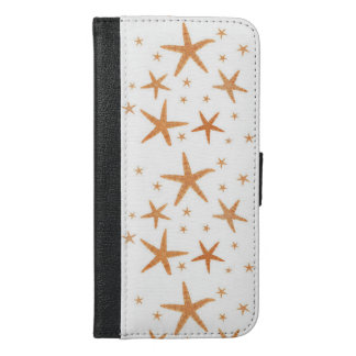 Starfish Image, Golden Starfish, Ocean Stars iPhone 6/6s Plus Wallet Case