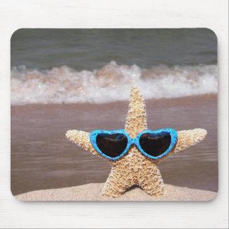 starfish in a bikini mouse pad