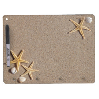 Starfish in the Sand Dry Erase Board