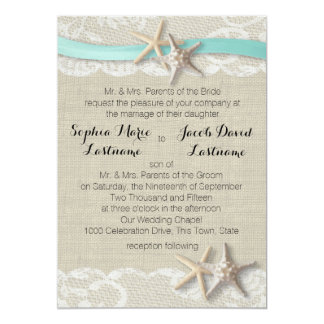 Starfish Lace and Ribbon Card