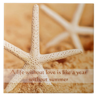 Starfish Love Proverb Trivet Large Square Tile