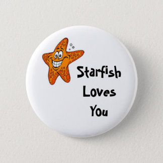 Starfish Loves You 6 Cm Round Badge