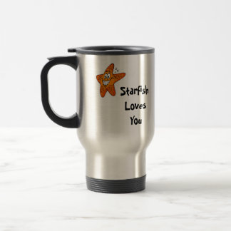Starfish Loves You Stainless Steel Travel Mug