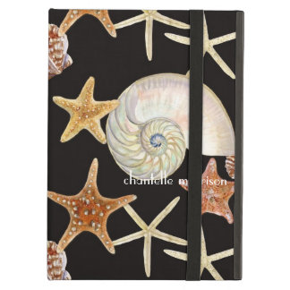 Starfish Nautilus Scallop Sea Shell Modern Pattern iPad Air Cover