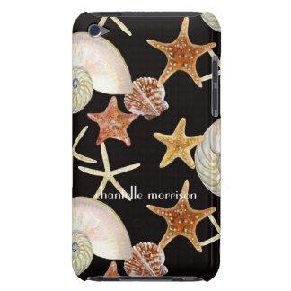 Starfish Nautilus Scallop Sea Shell Modern Pattern iPod Touch Covers