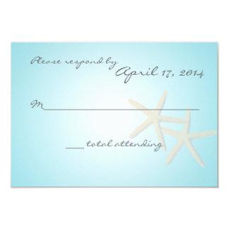 Starfish Ocean Dream Response Card 9 Cm X 13 Cm Invitation Card
