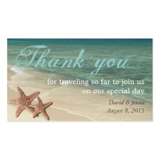 Starfish Ocean Thank You Tag Pack Of Standard Business Cards