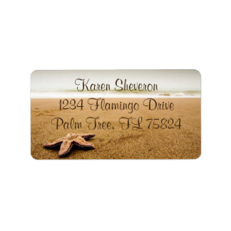 Starfish on a Sandy Beach Address Labels