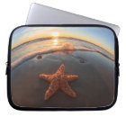 Starfish on Beach at Sunset Laptop Sleeve