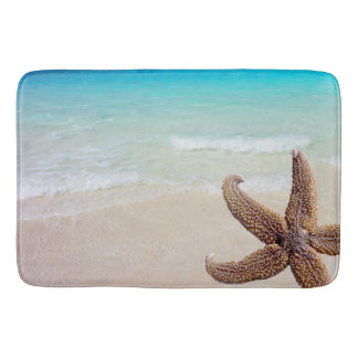 Starfish on Beach Seashore Image Bath Mat