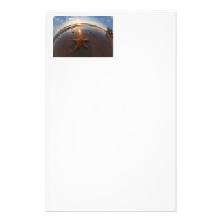 Starfish on Beach Stationery Paper