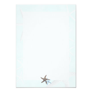 Starfish on Light Blue, Lined Blank Note Cards 11 Cm X 16 Cm Invitation Card