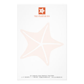 Starfish on the Beach Customized Stationery