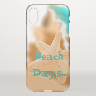 Starfish on the Beach Days iPhone X Case