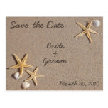 Starfish on the Beach Save the Date Postcards