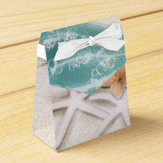 Starfish on the Beach Teal Sea Water Tropical Favour Box