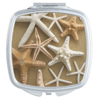 Starfish On The Sand Mirror For Makeup